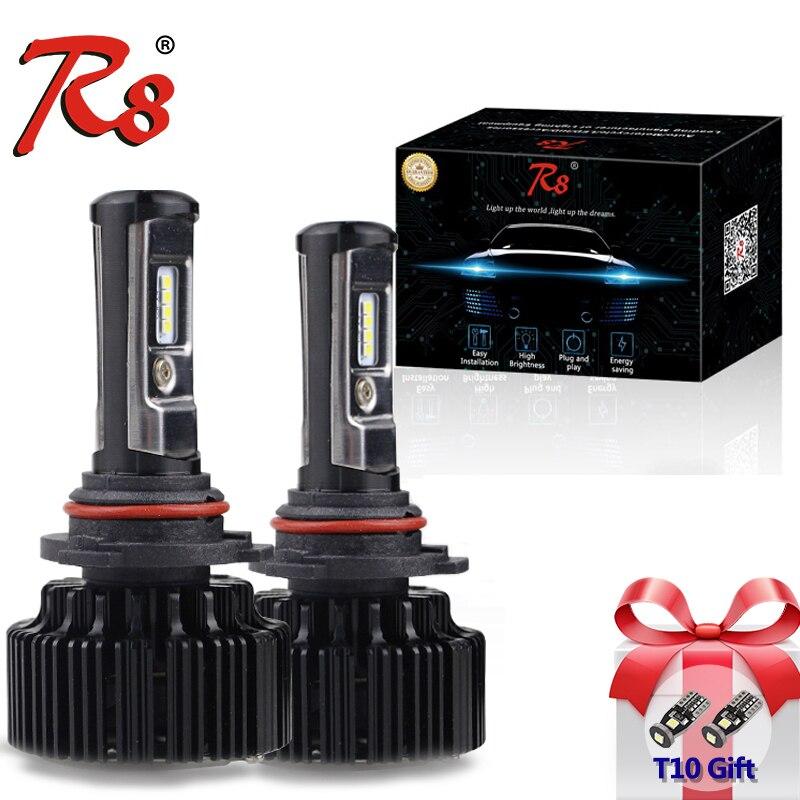 T1 Upgrade Version Car T6 Turbo LED Headlight Bulb Kits 60W 8000LM H1 H4 H7 H11