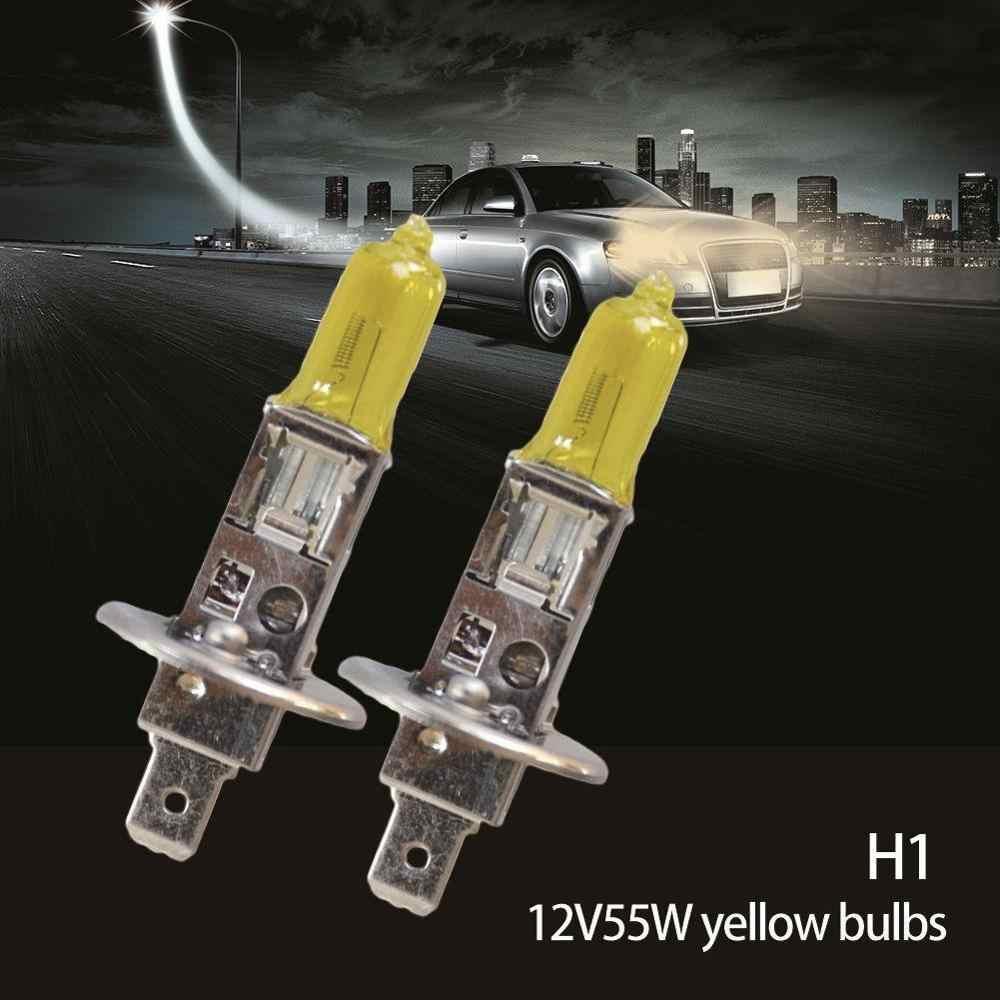Alta Qualidade 2 PCS Amarelo H1 H3 H4 H7 H8 12V 55 H11 9005 9006 Lâmpada Halógena 3000 W K Xenon Farol Do Carro Auto Lâmpada de Vidro de Quartzo NOVO