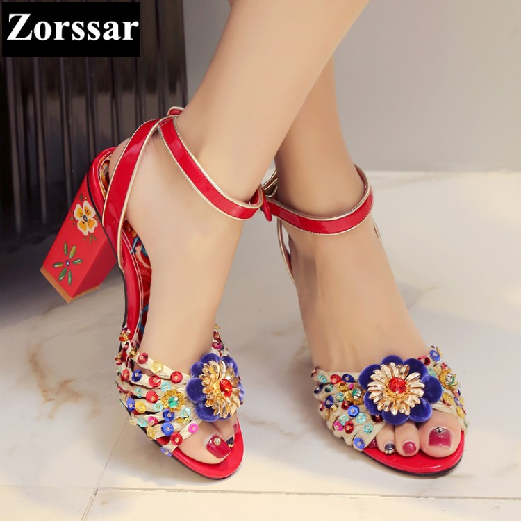 2017 Summer Womens ankle strap shoes peep toe rhinestone High heel sandals women Wedding shoes fashion women platform pumps fashion women ankle strap shoes pumps shoes womens rhinestone high heel sandals red blue 2017 new arrival woman summer shoes