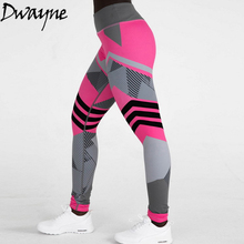 Купить с кэшбэком Women High Waist Sports Gym Running Fitness Leggings Pants Athletic Trouser Push Up Pants Skinny Girls Length Pants Wholesale