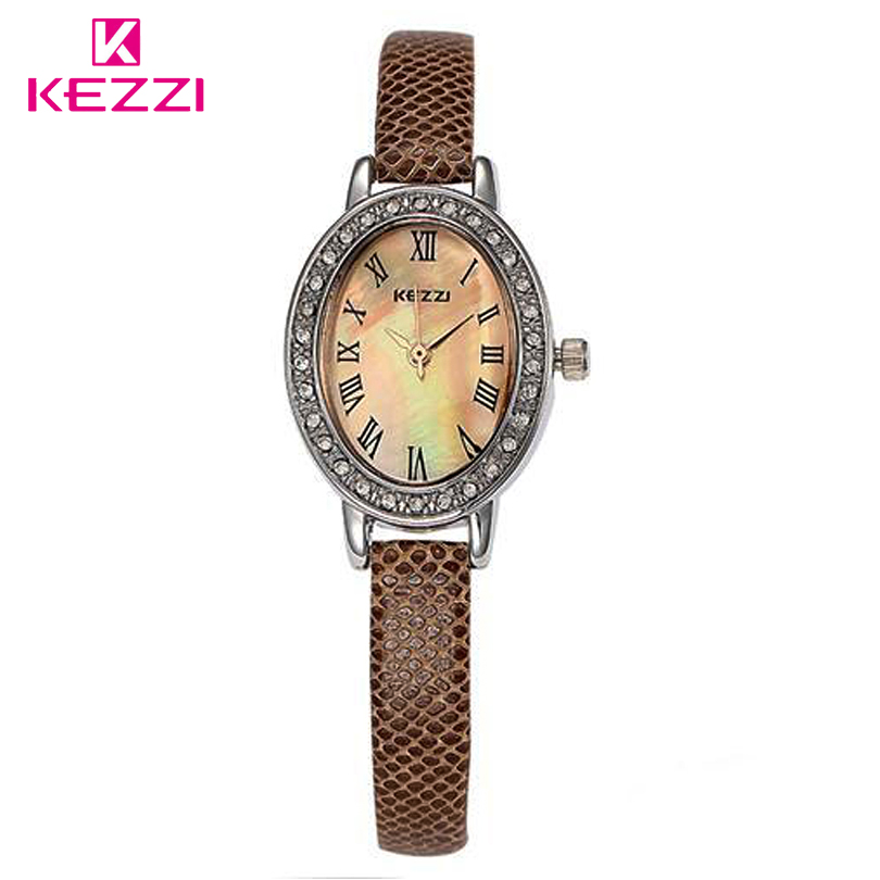 Kezzi brand hot womens fashion original high quality quartz dress wrist watches rhinestone for Watches brands for girl