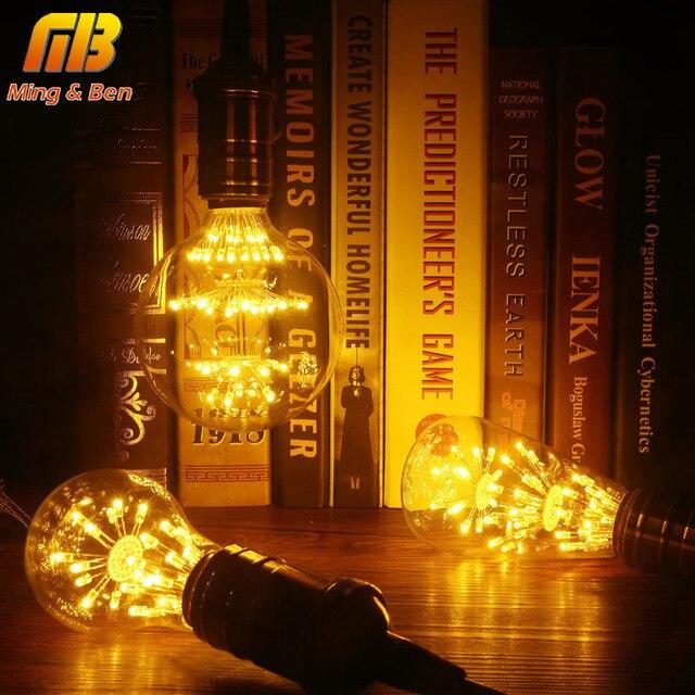 [MingBen]Vintage Classic E27 LED Stars Bulb ST64 G95 A60 AC220-240V Retro Antique Lamp for Coffee Bar Restaurant Home Decoration