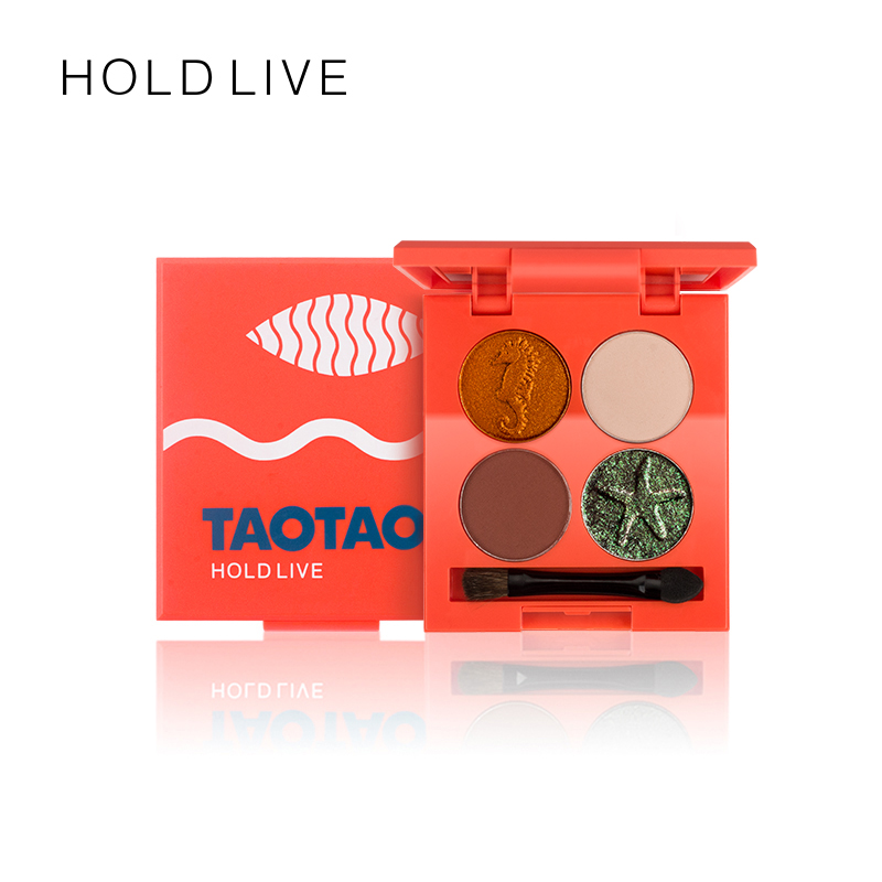 HOLD LIVE 6Colors Eyeshadow Palette Eyes Makeup Shimmer Matte Pigment Eye Shadow Cosmetics Mineral Nude Glitter Shadows Make Up