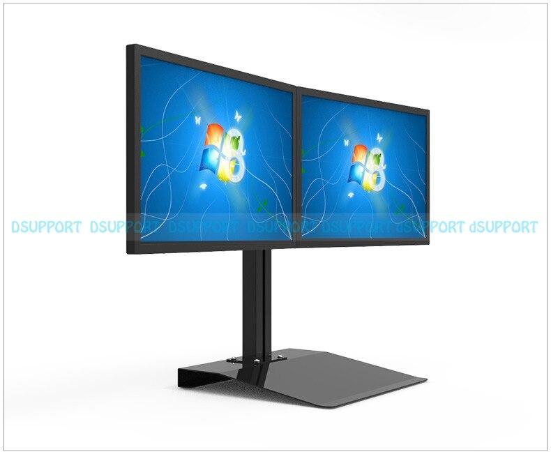 Full Rotation 15-27 Dual Screen Monitor Holder LCD TV Mount Desktop Stand Base S031 buy monitor for desktop