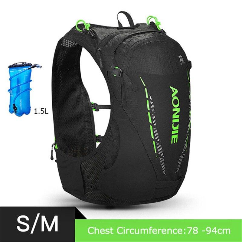 Sac à dos léger d'hydratation 10L sac à dos sac à dos vessie d'eau randonnée course Marathon course cyclisme sac à dos AONIJIE C948