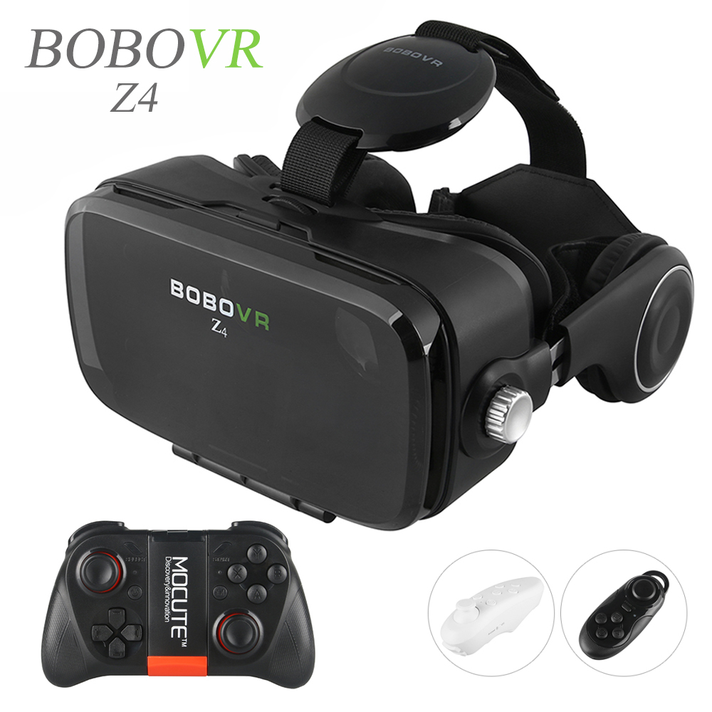 цена 2016 Hot Google Cardboard BOBOVR Z4 VR 360 Degree 3D Viewing Immersive Experience 4.7''-6.2'' Smartphone Virtual Reality Glasses