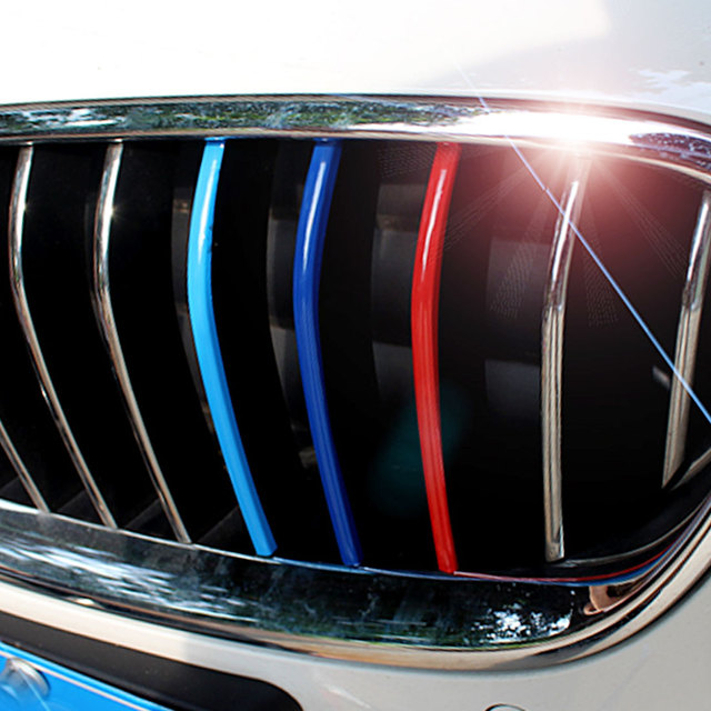 Front Grille Vinyl Strip Sticker For BMW M3 M5 E46 E60 E90