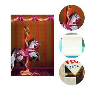 Image 5 - 5x7ft 회전 목마 배경 행복 회전 목마 어린이 파티 사진 배경 및 스튜디오 사진 배경 소품