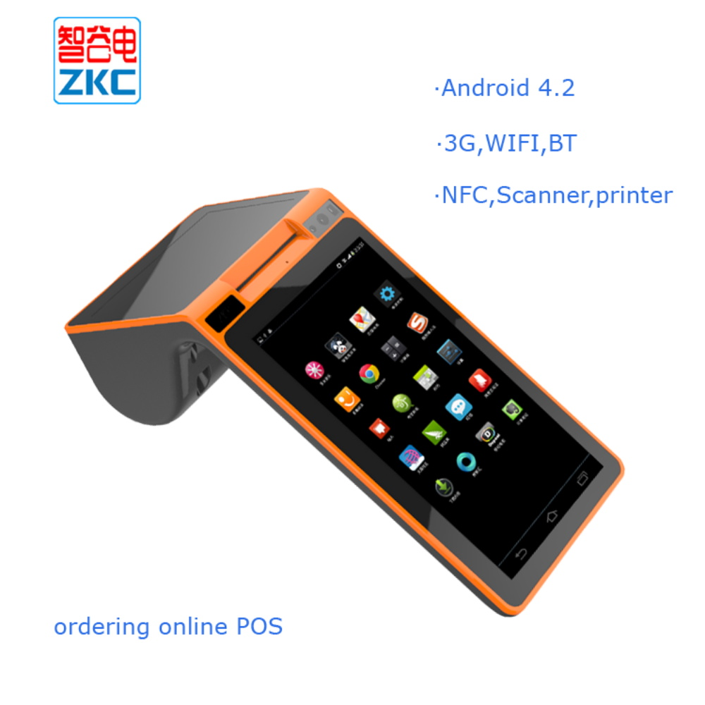 7 inch mobile android pos terminal with thermal printer - Open office android tablette ...