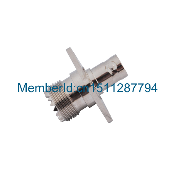 2015 New Arrival UHF female SO239 to BNC female flange panel mount RF connector RF Adapter Connector areyourshop sale 10pcs adapter uhf female to so239 jack 25 4mm flange panel mount rf connector f f