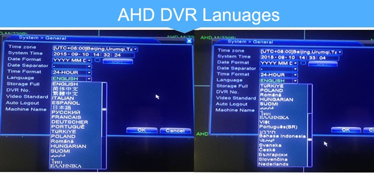 ahd dvr languages