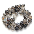 Free Shipping Natural Dragon Agate Loose Round Stone Beads 40cm Strand 6mm 8mm 10mm DIY Jewelry Craft Fittings F1629