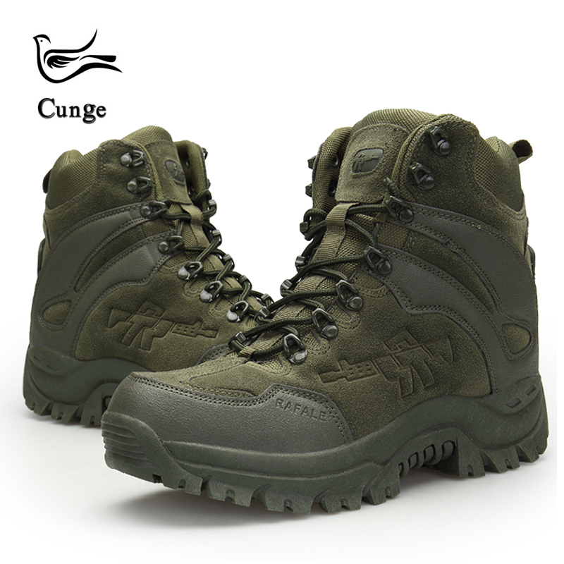 Men's Outdoor Hiking Shoes Military Army Tactical Combat Shoes Boots Anti-slip Anti-collision Trekking Shoes 4 Colors