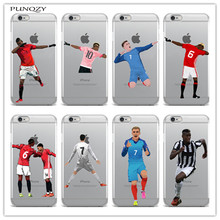 Sport Football Soccer Star Cristiano Ronaldo Messi pogba Case For iphone 6 6S 7 7Plus 5S soft Silicone Mobile phone shell cover(China)