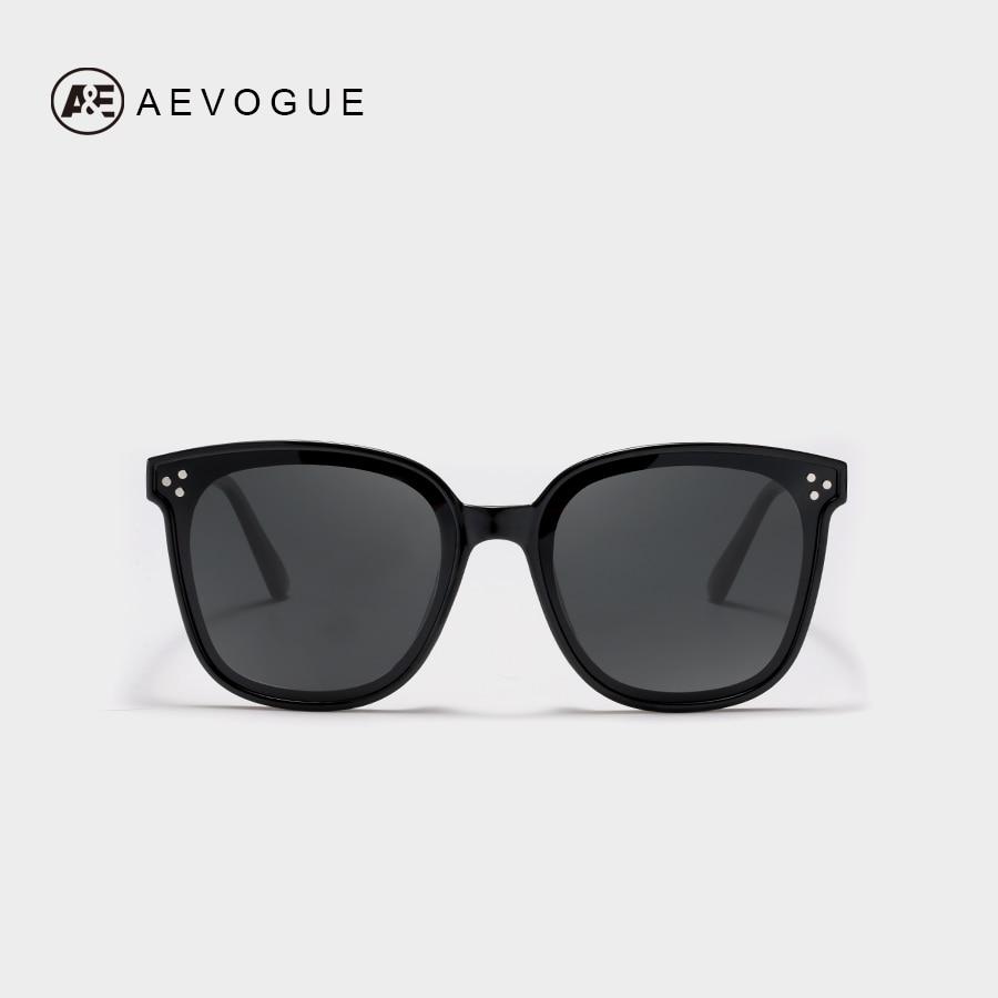 AEVOGUE Polarized Sunglasses Women 2019 Popupar Transparent Square Retro Sun Glasses Vintage Oculos Unisex UV400 AE0671