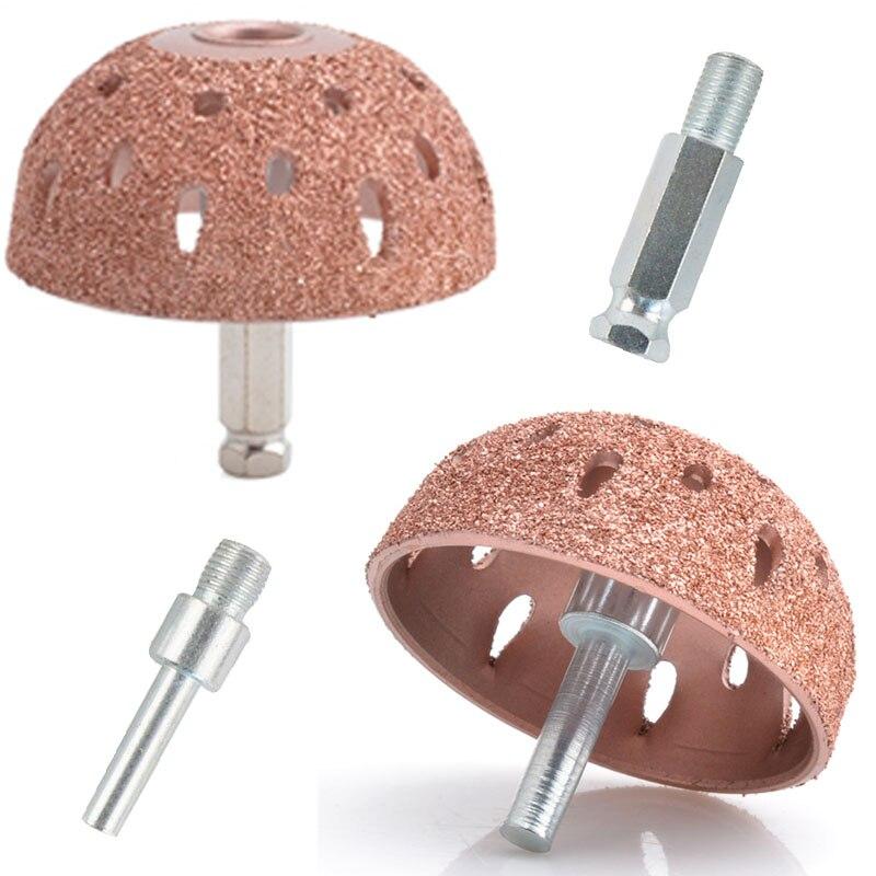 55mm Tungsten Steel Material Hemispherical Pneumatic Grinding Head Grinding Wound / Tire Tire Repair Tools