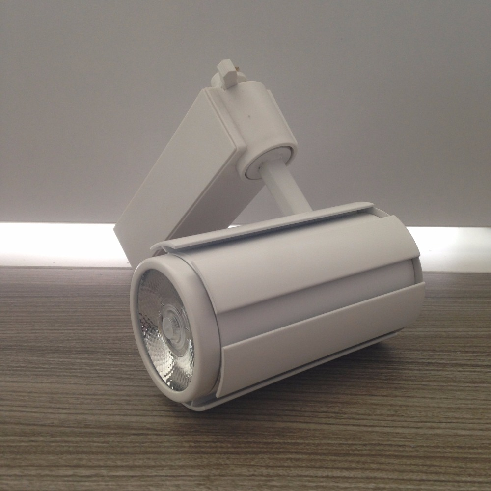 15W COB LED track light for store/shopping mall lighting lamp Color optional White LED Spot light Free Shipping led track light50wled exhibition hall cob track light to shoot the light clothing store to shoot the light window