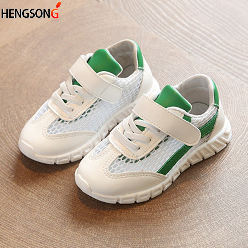 2018 Spring Kid Boys Shoes Children Sports Shoes Comfortable Mesh Breathable Light Children Running Shoe Outdoor Kid's Sneakers