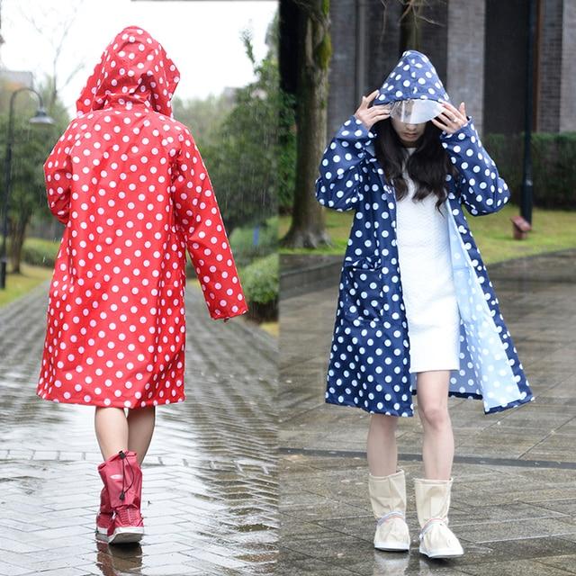 Hooded Raincoat Women Men Poncho Waterproof Long dots,Outdoor Travel Rain Coat Ponchos Jackets Female Cloak Chubasqueros Mujer