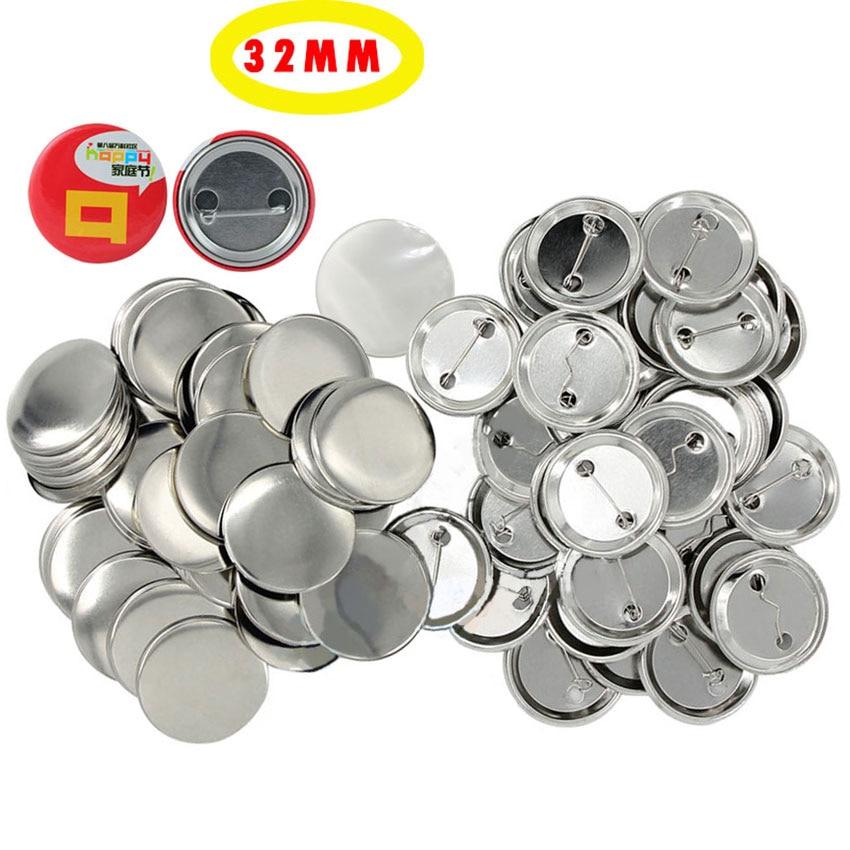 100set/pack 32mm Badge Materials Pinback DIY Pin Button Supplies Clothes/Handbag Decor School Crafts Badges Parts