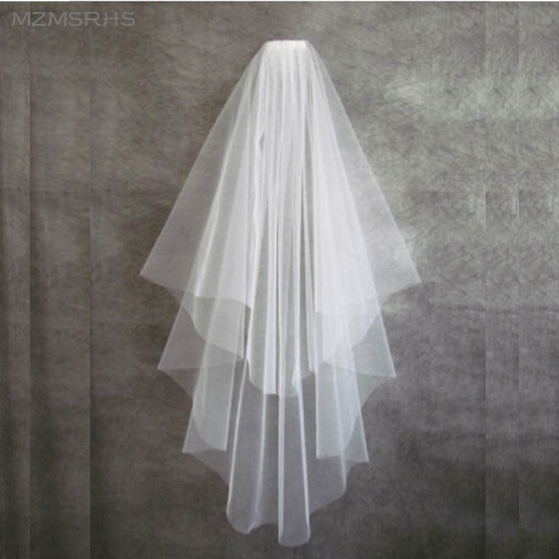Best Selling Wholesale In Stock Elegant White Tulle Bridal Short Wedding Veil