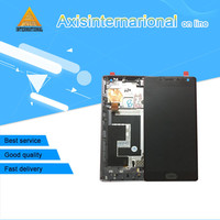 For Oneplus Two Oneplus 2 Axisinternational Lcd Screen Display Touch Panel Digitizer With Frame Black Free