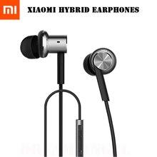 Auriculares originales Dual Drivers In-Ear 3.5mm Mi Híbrido de Conductores Inducido Equilibrado Dinámico Auricular Con Micrófono