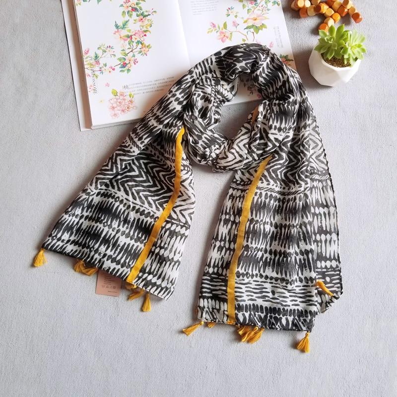 Voile Scarf Women New Fashion Thin Long Shawl Soft Large Blanket Wrap Summer Geometric Scarves Female [3001]