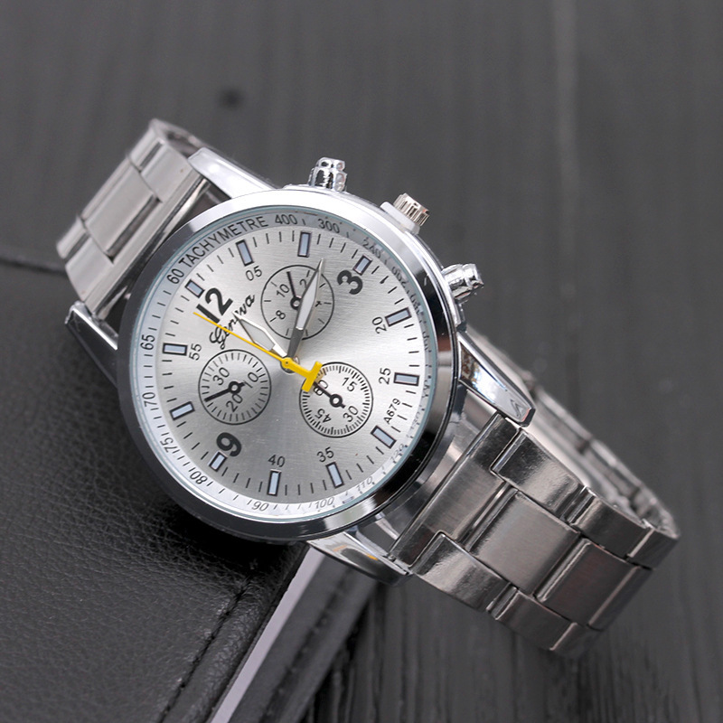 2019 New Famous Top Brand Men Silver Casual Quartz Watch Women Stainless Steel Watches Relogio Ladies Wrist Hot Sale Clock