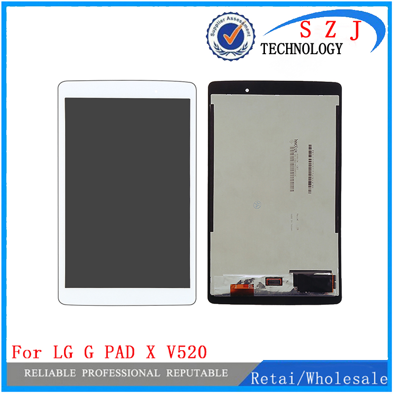New 8'' inch LCD Screen display +Touch Digitizer For LG G Pad 3 iii Gpad3 GPAD X 8.0 V520 V521 white or Black Free shipping 5 x rf antenna fm tv coaxial cable tv pal female to female adapter connector