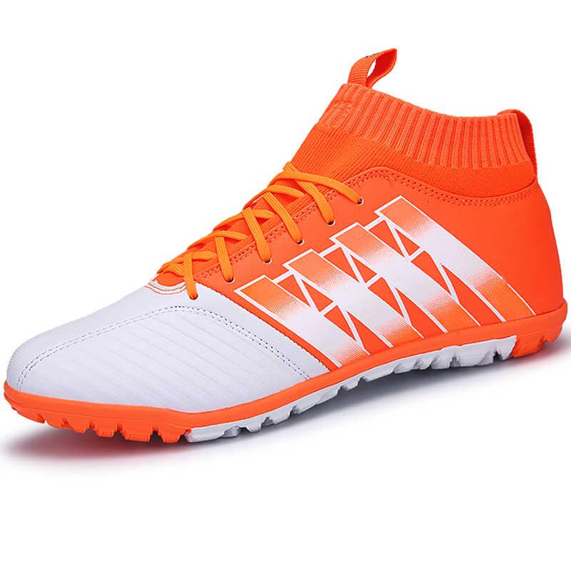 Высокие носки мужские футбольные шипованные бутсы резиновые высокие кеды мужские футбольные бутсы дерн мужские кроссовки обувь Zapatillas Chaussure