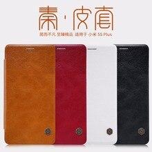 Xiao Mi 5S плюс Чехол натуральная Искусственная кожа Smart Cover Nillkin Qin Leather Case Для Сяо Mi 5S плюс Mi 5S плюс auto сна