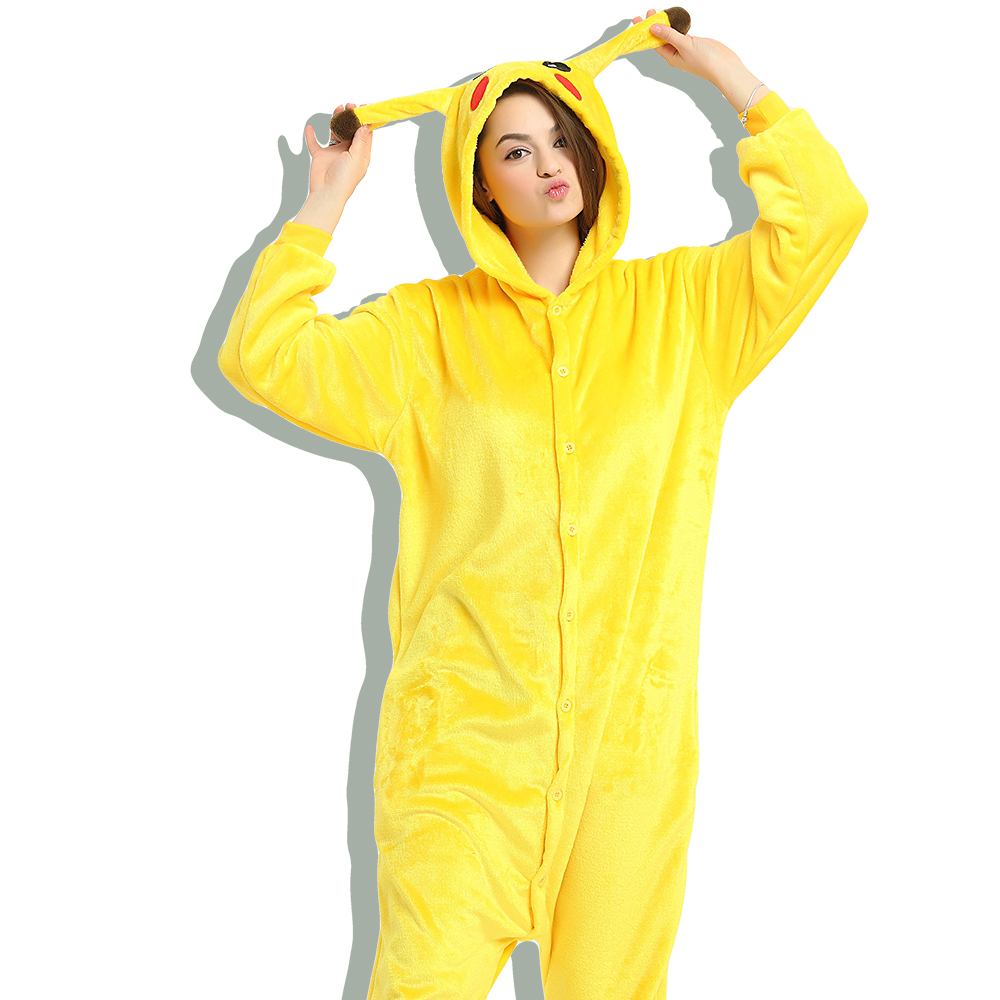 c9f9973187 Summer Short Pikachu Pajamas Animal Onesie Hoodie Pikachu Summer Short  Sleeve Costume Unisex 100% Cotton Pyjamas