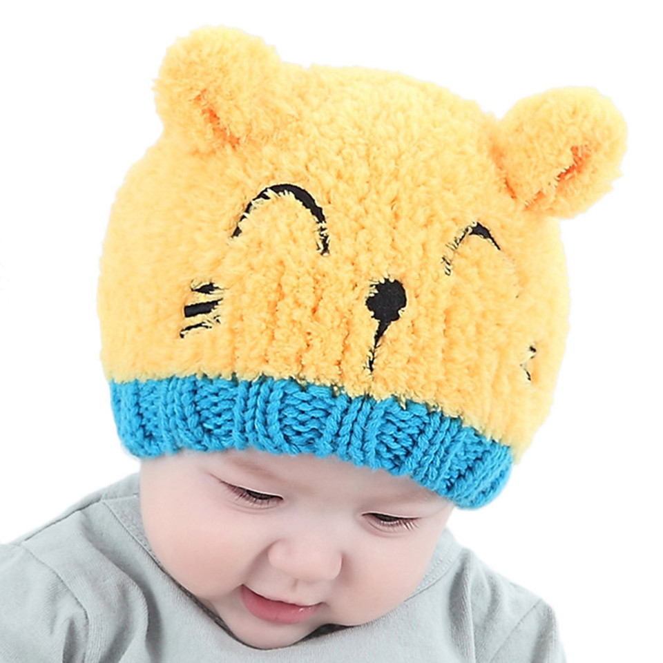 DORRISO Baby Kids Hat Cute Cartoon Neck Protection Set Head Hooded Spring Autumn Winter Windproof Mask Warm Hat Girls Boys Hats 1-8 Years Old