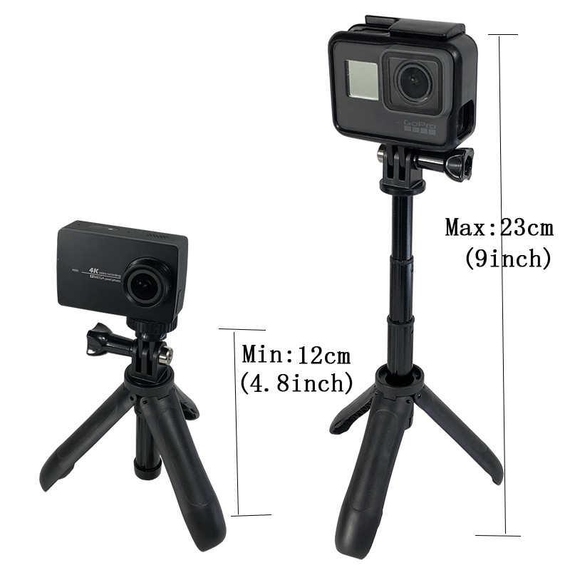 Портативный мини-штатив-Трипод с креплением для съемки, селфи палка, растяжимый монопод для Gopro Hero7 6 5 4 3 + SJCAM спортивной экшн-камеры Xiaomi YI 4 k eken H9 sony спортивные Камера