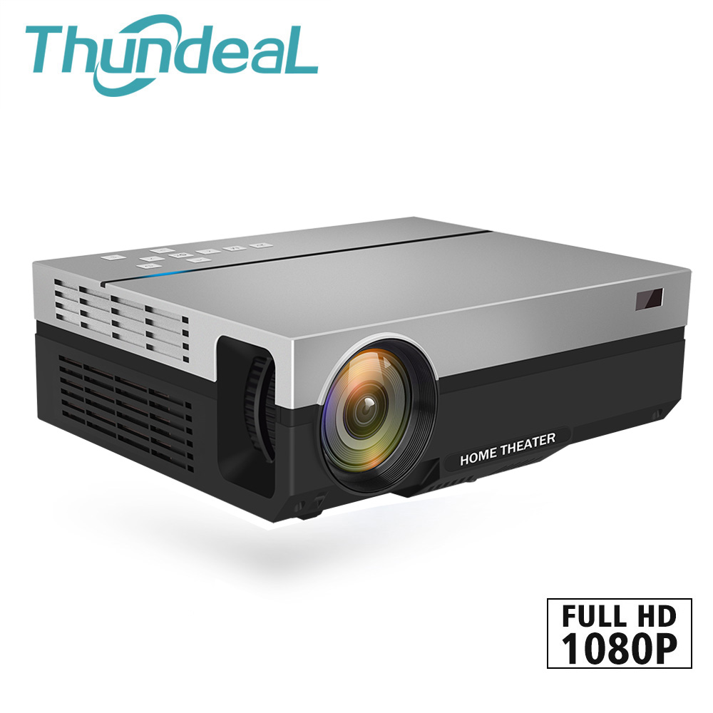 ThundeaL Full HD Projector T26K Native 1080P 5500 Lumens Video LED LCD Home Cinema Theater HDMI VGA USB TV 3D Option T26 Beamer wzatco 5500lumen android smart wifi 1080p full hd led lcd 3d video dvbt tv projector portable multimedia home cinema beamer