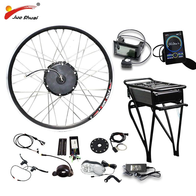 E BIKE 48V 500W Motor Wheel Electric Bike Kit 48V 14AH Battery Electric Bicycle Conversion Kit
