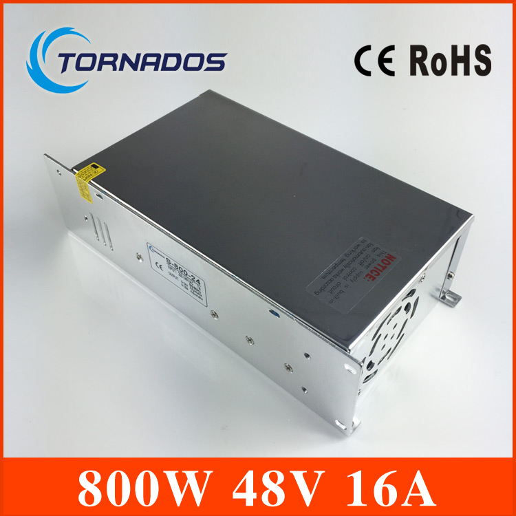 Power Supply DC 48V 16A 800w Led Driver Transformer AC110V 220V to DC48V Power Adapter for strip lamp CNC CCTV Stepper Motor led transformer 24v 60w ac dc power supply 110v 220v to 24v charger adapter for led strip led module light 3 year warranty