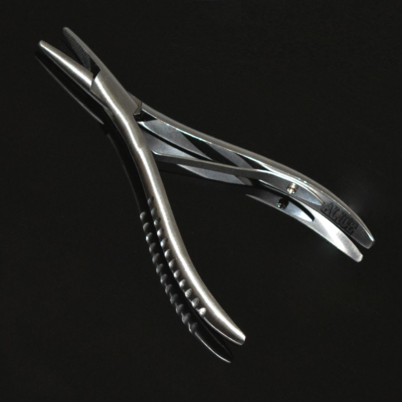 Stainless Steel Fusion <font><b>Hair</b></font> <font><b>pliers</b></font> Saw tooth Face <font><b>Hair</b></font> <font><b>Extension</b></font> <font><b>Pliers</b></font> <font><b>Install</b></font> & <font><b>Remove</b></font> Micro Links Kits