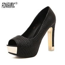 High quality summer sping new sexy fashion peep toe simple sandals all-match rough simple pumps women square high heels shoes