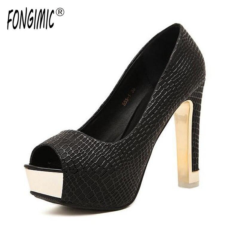 Високе квалитете летње спинг нове секси модне пееп тое једноставне сандале све-подударају грубе једноставне пумпе жене квадратне ципеле на високим петама