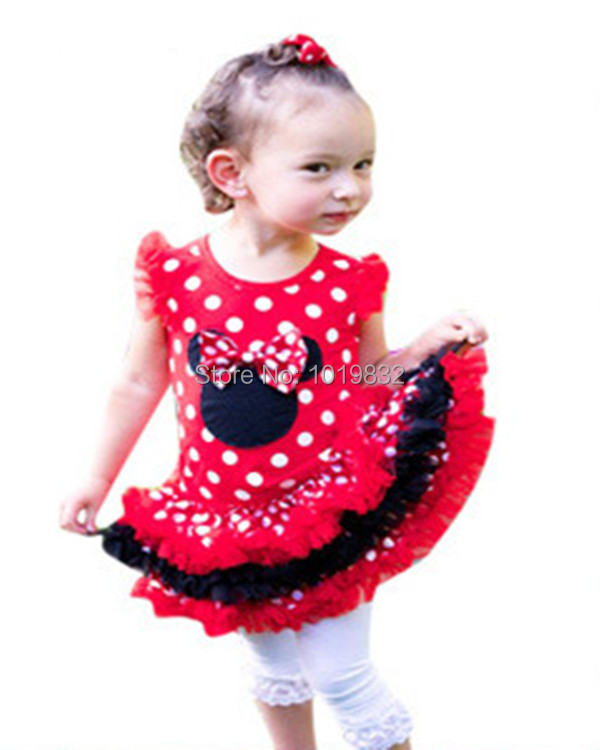 b58700f18eb Girl Casual Dresses Infant Girl Minnie Mouse Petti Tutu Dress Girl Birthday  Cake Dresses Baby Girls Red White Polka Dot Dress