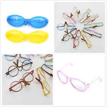 c4c85af19c Ronde en forme de Rond lunettes verres colorés lunettes de soleil adapté  pour BJD blythe poupée comme pour Poupée Accessoires