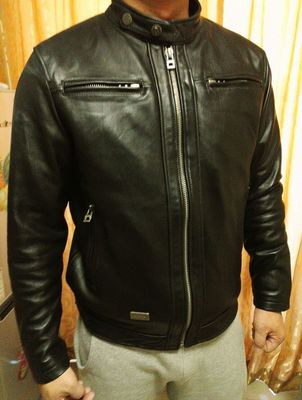 Free Shipping.Sales High Quality Vintage Sheepskin Leather Men Jackets,casual Men's Genuine Leather Jacket,classic Biker