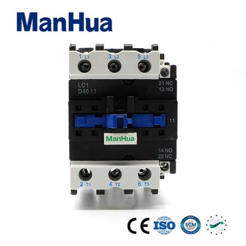 Manhua LC1-D40 3P+No+Nc 40A AC Modular Dc Coil Contactor For Motot Protection Electrical Magnetic Contactor