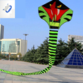 30 m de Cola de Serpiente Cobra Kite Kite Kite Con Línea de Diversión Al Aire Libre Deportes juguete Fácil de Volar