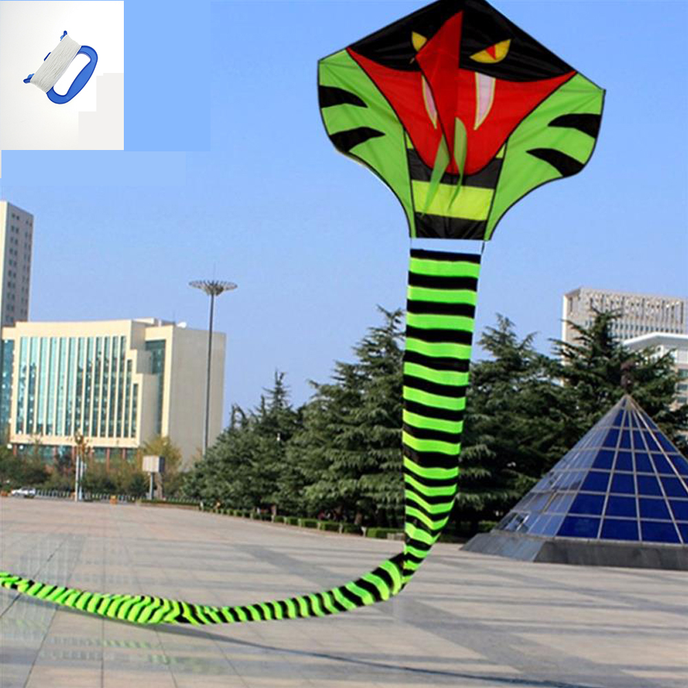 30m Tail Snake Kite Cobra Kite With Kite Line Outdoor Fun Sports toy Easy To Fly