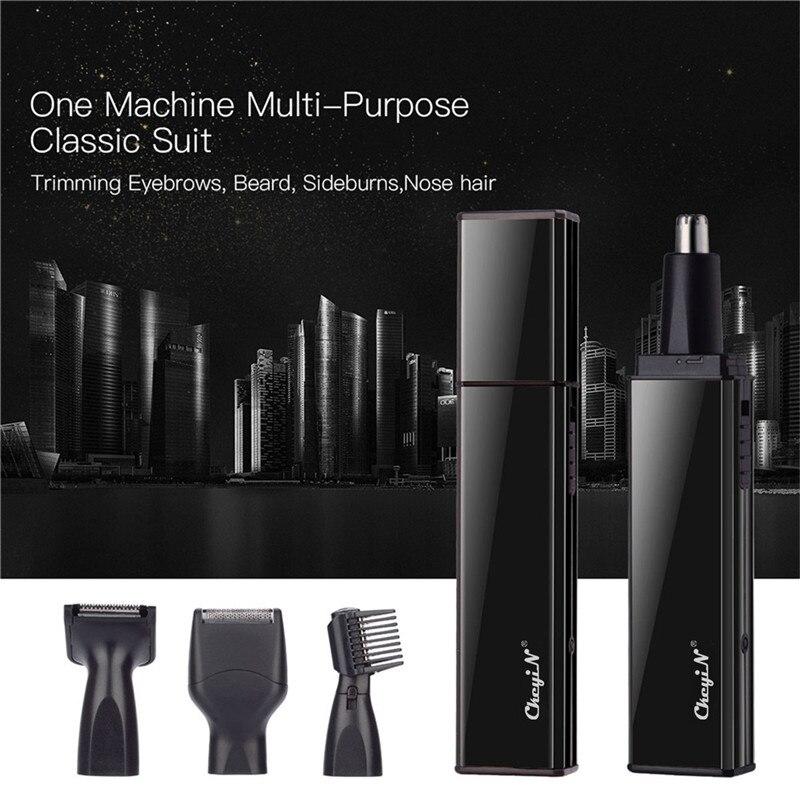 4 en 1 afeitadoras recargables cortador de pelo de los oídos recortador de barba para hombres ceja patillas maquinilla de afeitar cortador para hombres