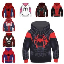 Spider-Man: Into the Spider-Verse Miles Morales Gwen Hoodie Anime Spider Man Sweatshirts Cosplay Costume Men Women Clothing