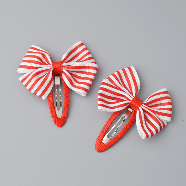 YYXUAN 2 pieces Girl Boutique Hair Bows Barrettes Clips For Kids Toddlers Girls Printing Bow Hairgrips 3